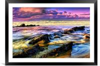 Tides on the turn, Framed Mounted Print