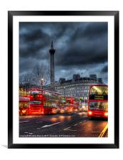 London red buses, Framed Mounted Print