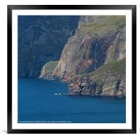 The Foot of Slieve League, Framed Mounted Print