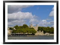 LONDON TOWER, Framed Mounted Print