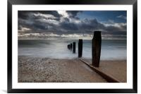 Sea View over the Solent, Framed Mounted Print