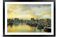 Plymouth Barbican, Framed Mounted Print