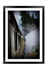 Steam Train, Framed Mounted Print