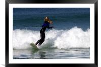 Young Surfer, Framed Mounted Print