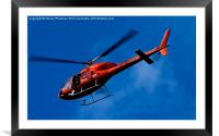 Red on blue , Framed Mounted Print