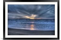 Sunset in San Stefano's, Framed Mounted Print