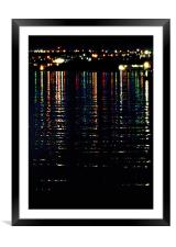 City Lights Upon the Water (2), Framed Mounted Print