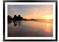 Porthtowan Sunset, Framed Mounted Print