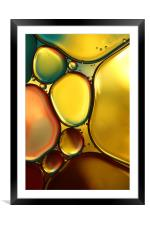 Oil & Water Abstract II, Framed Mounted Print