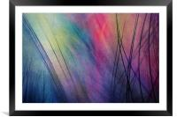 Tropical Feather Abstract, Framed Mounted Print