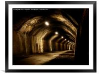 Chee Tor No 1 Tunnel, Derbyshire, Monsal Trail, Framed Mounted Print