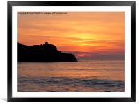 St Ives, Cornwall, Sunset, Framed Mounted Print