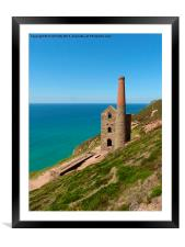 Wheal Coates, Cornwall, Tin Mine, Framed Mounted Print