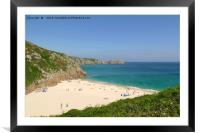 Porthcurno, Cornwall, Framed Mounted Print