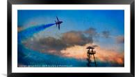 The Red Arrows at Bournemouth, Framed Mounted Print