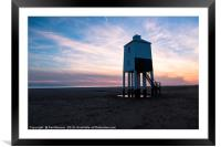 Sunset with cloudy skies, Framed Mounted Print
