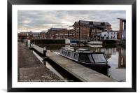Gloucester Waterways, Framed Mounted Print