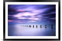 Seascape in Amethyst, Framed Mounted Print