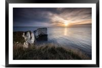 Sunrise through the clouds, Framed Mounted Print