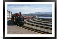 The train now standing, Framed Mounted Print