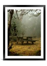 Picnic in the clouds, Framed Mounted Print