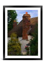 Devon cottage, Framed Mounted Print