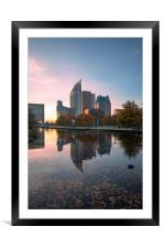 The Hague cityscape , Framed Mounted Print