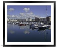 Reflections In The Marina, Framed Mounted Print