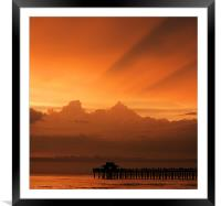 Through the Clouds, Framed Mounted Print