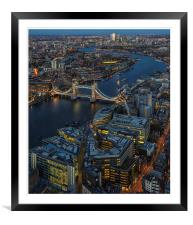 Tower Bridge Skyline, Framed Mounted Print