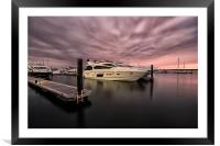 Sunseeker Sunset Poole Harbour, Framed Mounted Print
