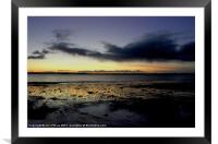 BRAIGHE BEACH COPPER REFLECTION, Framed Mounted Print