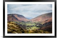 Red and green valley, Framed Mounted Print