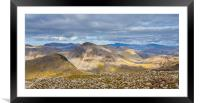 View from Scafell Pike, Framed Mounted Print