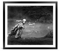 Driving me around the bend, Framed Mounted Print