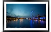 Looking down the Thames, Framed Mounted Print