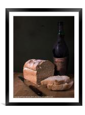 Bread & Wine, Framed Mounted Print