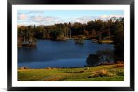 Nice Blue Lake in Cumbria, Framed Mounted Print