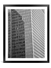 Canary Wharf London Abstract, Framed Mounted Print