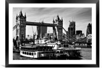 River Thames view, Framed Mounted Print