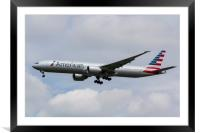 American Airlines Boeing 777, Framed Mounted Print