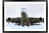 Qatar Airlines Airbus A380, Framed Mounted Print