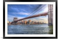 Brooklyn Bridge New York, Framed Mounted Print