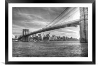 Brooklyn Bridge , Framed Mounted Print