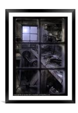 CLOSED FOR THE NIGHT, Framed Mounted Print