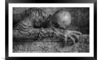 THE SICKNESS, Framed Mounted Print