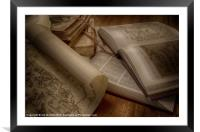 BOOKS OF KNOWLEDGE, Framed Mounted Print