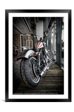 CUSTOM STRIPES, Framed Mounted Print