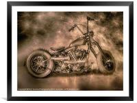 THE DEVILS RIDE, Framed Mounted Print
