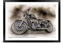 THE CUSTOM BOBBER PAINTING, Framed Mounted Print